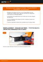 Comment changer : disques de frein avant sur Toyota RAV4 II - Guide de remplacement