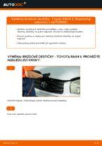 Jak vyměnit a regulovat Brzdové Destičky TOYOTA RAV4: průvodce pdf