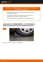 Wie Stoßdämpfer Satz Gasdruck beim TOYOTA RAV 4 II (CLA2_, XA2_, ZCA2_, ACA2_) wechseln - Handbuch online