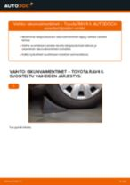 Automekaanikon suositukset TOYOTA Toyota Rav4 II 2.0 4WD (ACA21, ACA20) -auton Pyöränlaakerit-osien vaihdosta