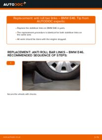 How to carry out replacement: Anti Roll Bar Links on 320d 2.0 BMW E46