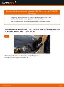 Wie der Wechsel durchführt wird: Bremssattel 320d 2.0 BMW E46 tauschen