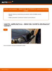 Kuinka vaihtaa Jarrusatula 320d 2.0 BMW E46 -autoon