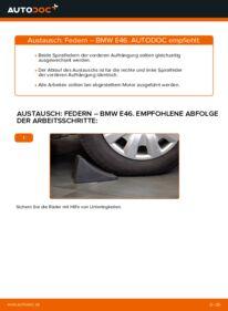 Wie der Wechsel durchführt wird: Federn 320d 2.0 BMW E46 tauschen