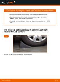 Wie der Wechsel durchführt wird: Radlager BMW E46 320d 2.0 330d 2.9 320i 2.2 tauschen