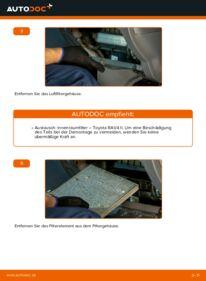 Wie der Wechsel durchführt wird: Innenraumfilter 2.0 D 4WD (CLA20_, CLA21_) Toyota Rav4 II tauschen