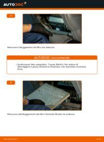 Come effettuare una sostituzione di Filtro Antipolline su 2.0 D 4WD (CLA20_, CLA21_) Toyota Rav4 II