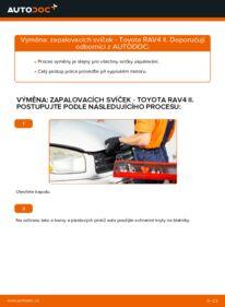 Jak provést výměnu: Zapalovaci svicka na 2.0 D 4WD (CLA20_, CLA21_) Toyota Rav4 II