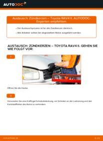 Wie der Wechsel durchführt wird: Zündkerzen 2.0 D 4WD (CLA20_, CLA21_) Toyota Rav4 II tauschen
