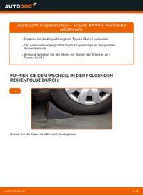 Wie der Wechsel durchführt wird: Koppelstange 2.0 D 4WD (CLA20_, CLA21_) Toyota Rav4 II tauschen