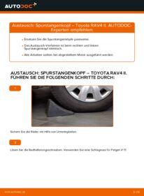 Wie der Wechsel durchführt wird: Spurstangenkopf 2.0 D 4WD (CLA20_, CLA21_) Toyota Rav4 II tauschen