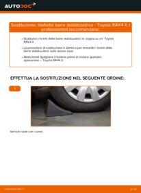 Come effettuare una sostituzione di Biellette Barra Stabilizzatrice su 2.0 D 4WD (CLA20_, CLA21_) Toyota Rav4 II