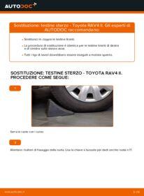 Come effettuare una sostituzione di Testina dello Sterzo su 2.0 D 4WD (CLA20_, CLA21_) Toyota Rav4 II