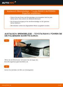 Wie der Wechsel durchführt wird: Bremsbeläge 2.0 D 4WD (CLA20_, CLA21_) Toyota Rav4 II tauschen