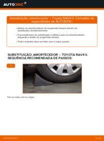 Como realizar a substituição de Amortecedor no 2.0 D 4WD (CLA20_, CLA21_) Toyota Rav4 II