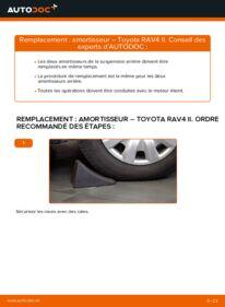 Comment effectuer un remplacement de Amortisseurs sur 2.0 D 4WD (CLA20_, CLA21_) Toyota Rav4 II