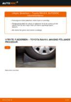 Byta fjäderben fram på Toyota RAV4 II – utbytesguide