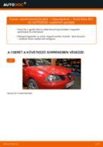 Lépésről-lépésre PDF-útmutató - SEAT IBIZA IV (6L1) Fékcsövek csere