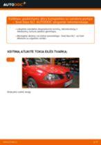 Automechanikų rekomendacijos SEAT Seat Ibiza 6l1 1.4 16V Spyruoklės keitimui