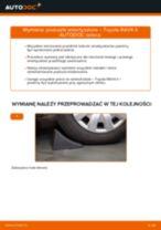 Zalecenia mechanika samochodowego dotyczącego tego, jak wymienić TOYOTA Toyota RAV4 III 2.0 4WD (ACA30_) Końcówka drążka kierowniczego poprzecznego