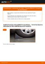 Como mudar rolamento da roda da parte traseira em Toyota RAV4 II - guia de substituição