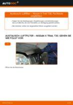 Nissan Qashqai j10 Wasserpumpe + Zahnriemensatz: Schrittweises Handbuch im PDF-Format zum Wechsel