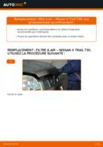 Comment changer : filtre à air sur Nissan X Trail T30 - Guide de remplacement