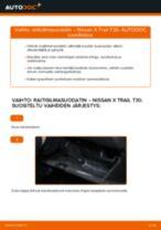 Automekaanikon suositukset NISSAN Nissan X Trail t30 2.2 Di 4x4 -auton Raidetangon Pää-osien vaihdosta