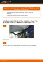 Doporučení od automechaniků k výměně NISSAN Nissan X Trail t30 2.2 Di 4x4 Brzdové Destičky