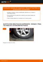 Cambio Travesaños barras estabilizador delantera y trasera NISSAN X-TRAIL: tutorial en línea