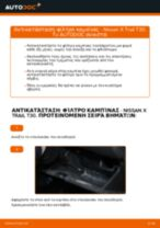 Αλλαγή Λάδι κινητήρα NISSAN X-TRAIL: δωρεάν pdf