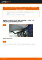 dīzelis Degvielas filtrs nomaiņa NISSAN X-TRAIL: tiešsaistes pamācības
