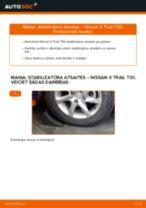 Tiešsaistes bezmaksas instrukcijas kā mainīties Savienotājstienis NISSAN X-TRAIL (T30)