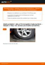 Comment changer : biellette de barre stabilisatrice arrière sur Nissan X Trail T30 - Guide de remplacement