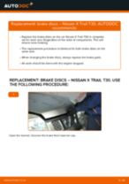 How to change Multi v belt on NISSAN X-TRAIL (T30) - manual online