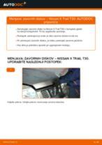 Avtomehanična priporočil za zamenjavo NISSAN Nissan X Trail t30 2.2 Di 4x4 Zracni filter