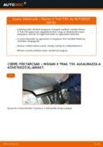 Cseréljünk Kézifék Bowden NISSAN X-TRAIL: felhasználói kézikönyv