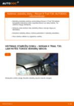 NISSAN X-TRAIL Ašies montavimas keitimas: nemokamas pdf