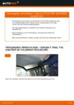 NISSAN Remschijven achter en vóór veranderen doe het zelf - online handleiding pdf