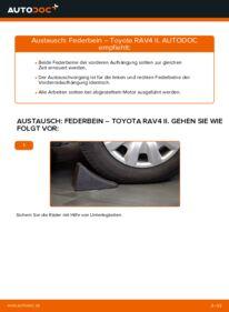 Wie der Wechsel durchführt wird: Stoßdämpfer 2.0 D 4WD (CLA20_, CLA21_) Toyota Rav4 II tauschen