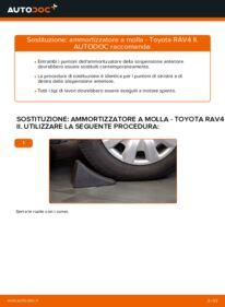 Come effettuare una sostituzione di Ammortizzatori su 2.0 D 4WD (CLA20_, CLA21_) Toyota Rav4 II