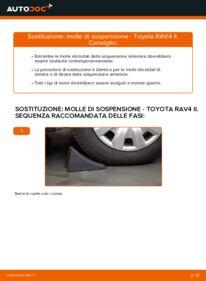 Come effettuare una sostituzione di Molla Ammortizzatore su 2.0 D 4WD (CLA20_, CLA21_) Toyota Rav4 II