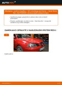 Kako izvesti menjavo: Komplet (kit) zobatega jermena na 1.9 TDI Seat Ibiza 6l1