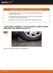 Wie der Wechsel durchführt wird: Federn 2.0 D 4WD (CLA20_, CLA21_) Toyota Rav4 II tauschen
