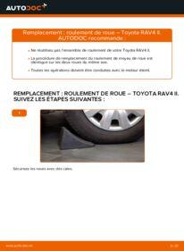Comment effectuer un remplacement de Roulement De Roues sur 2.0 D 4WD (CLA20_, CLA21_) Toyota Rav4 II