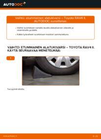 Kuinka vaihtaa Alatukivarsi 2.0 D 4WD (CLA20_, CLA21_) Toyota Rav4 II -autoon