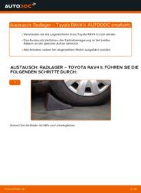 Wie der Wechsel durchführt wird: Radlager 2.0 D 4WD (CLA20_, CLA21_) Toyota Rav4 II tauschen