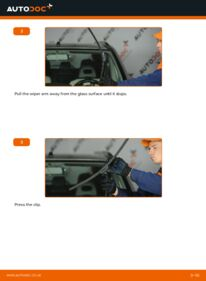 How to carry out replacement: Wiper Blades on NISSAN X-TRAIL