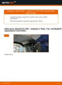 Kako izvesti menjavo: Zracni filter na 2.2 dCi 4x4 Nissan X Trail t30