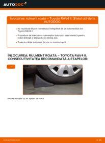 Cum să efectuați înlocuirea: Rulment roata la 2.0 D 4WD (CLA20_, CLA21_) Toyota Rav4 II